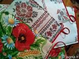 Фартуки кухонные, прихватки, украинский мотив, маки, лён - фото 5