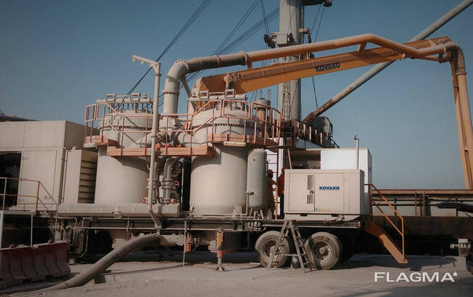 Б/У мобильная перегрузка цемента Kovako D1/30S 195 т/ч