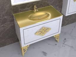 Ensemble de meubles de rangement pour salle de bain Cristin