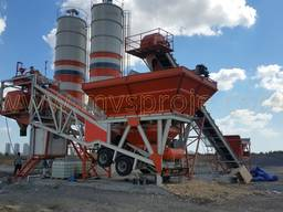 MVS 60M 60m3/hour Mobile Concrete Batching Plant