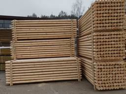 Rounded Pine Poles, diameter - 100mm , length - 3660mm