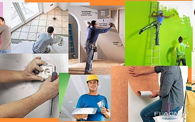 Строительные и отделочные работы, монтаж различной мебели.